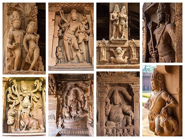 Badami, India - large carvings
