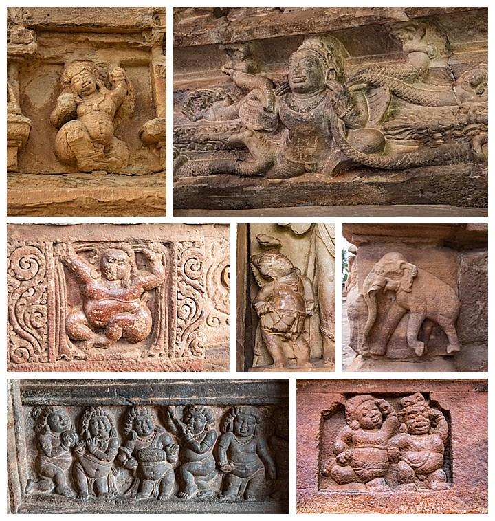 Badami, India - small carvings