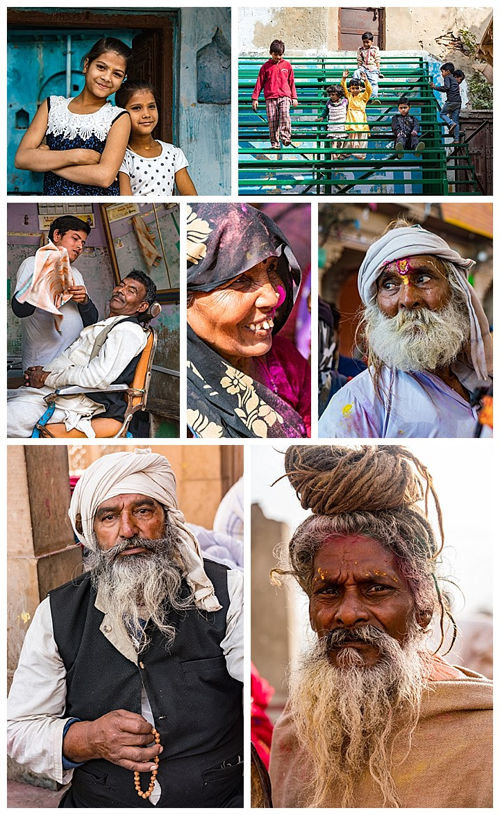 Barsana, India - faces