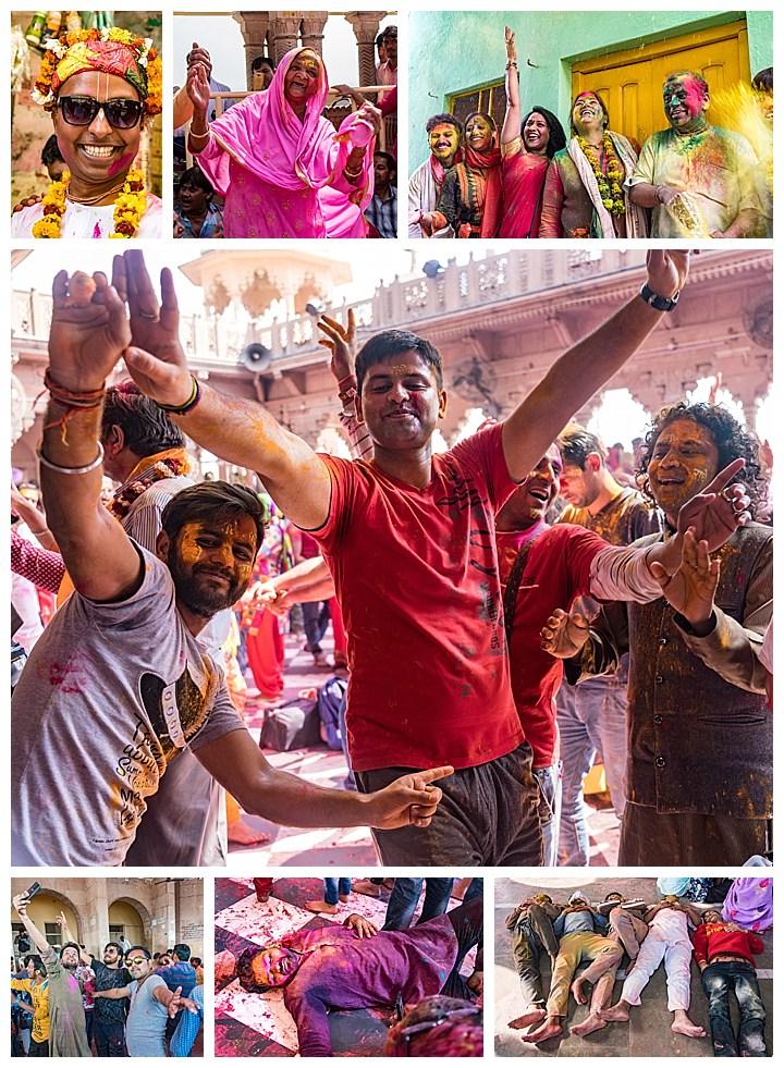 Barsana, India - celebrating