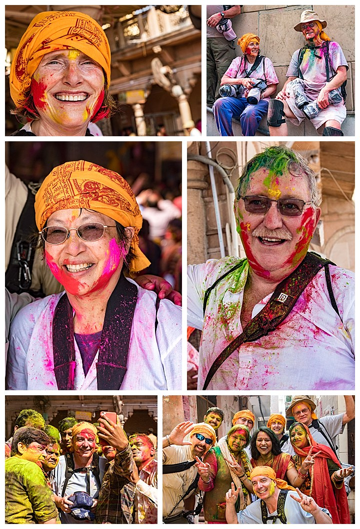 Barsana, India - travelers
