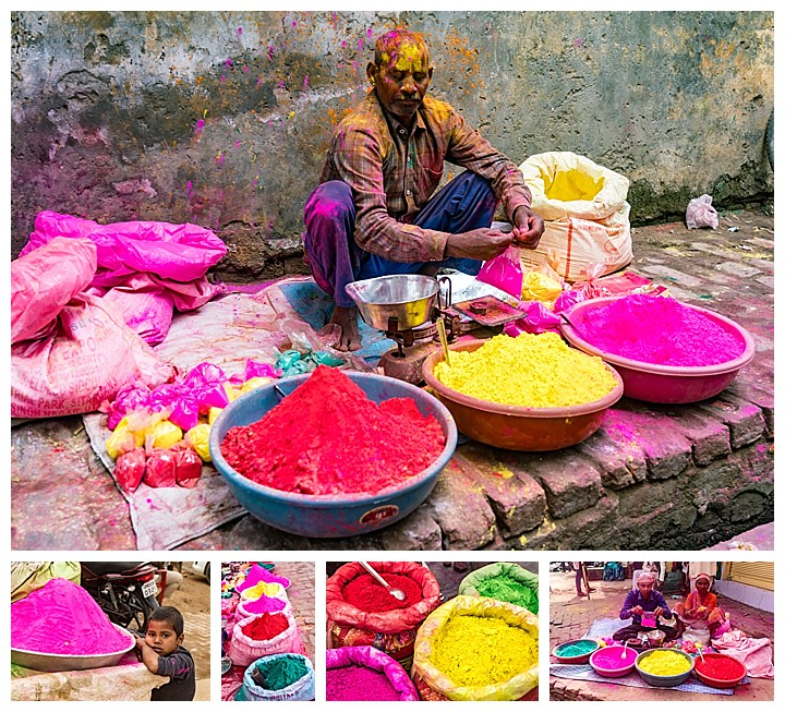 Barsana, India, Holi Festival 2018 -selling colors