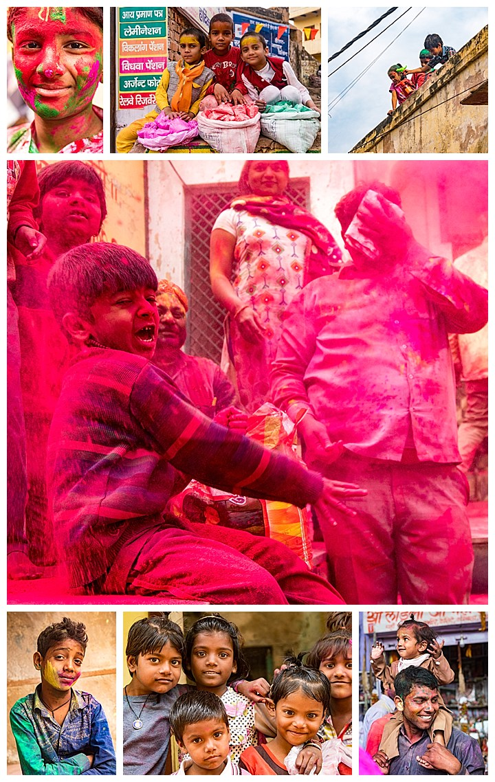 Barsana, India, Holi Festival 2018 -kids