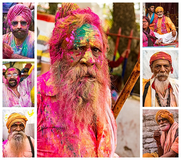 Barsana, India, Holi Festival 2018 -beards