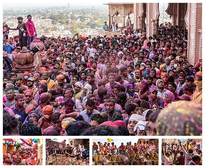 Barsana, India, Holi Festival 2018 -crowds