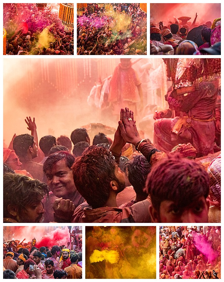 Barsana, India, Holi Festival 2018 -painted crowds