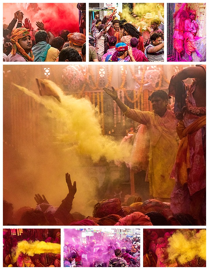 Barsana, India, Holi Festival 2018 -throwing paint