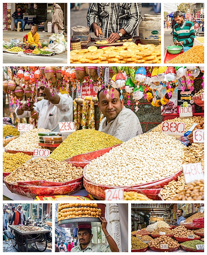 Delhi, India - food vendors
