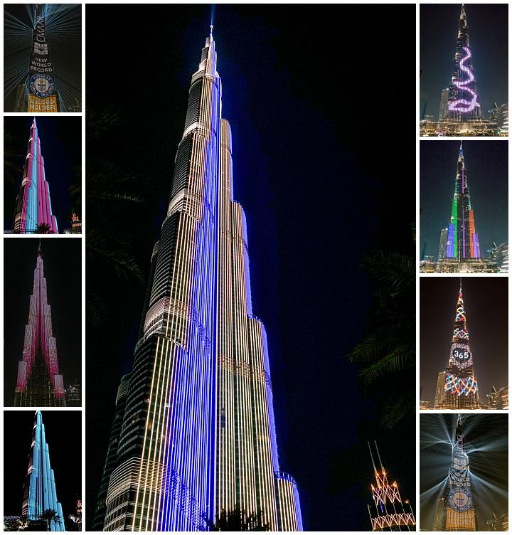 Dubai, UAE - Burj Khalifa light show