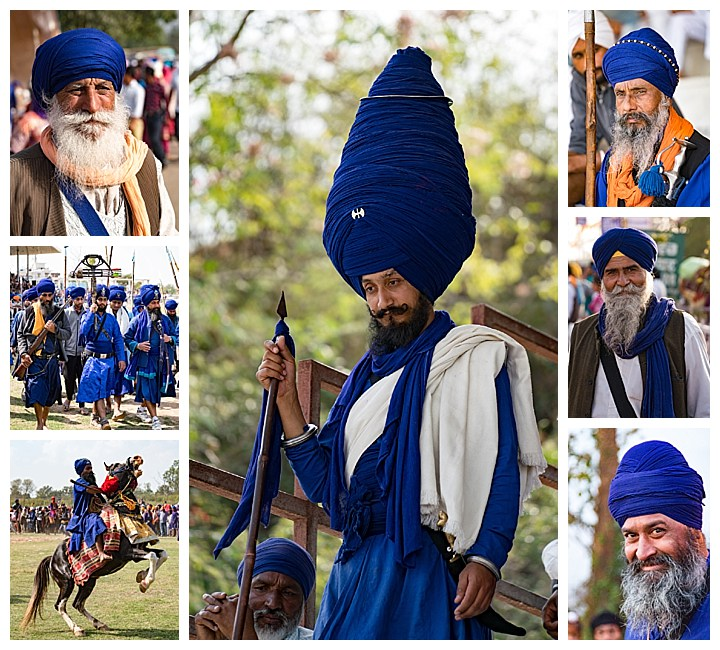 Punjab, India, Hola Mohalla 2018 - turbans blue