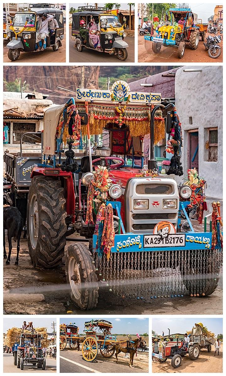 Hubli, India - decorated vehicles