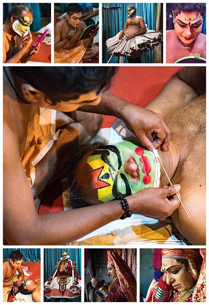Munnar, India - dancer make up