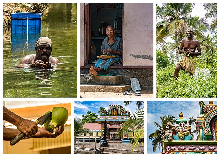 Munroe Island, India - people and temples
