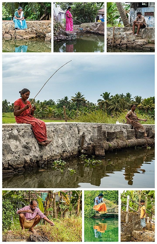 houseboat, India - fishing