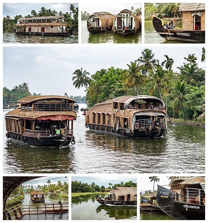 houseboat, India - houseboats