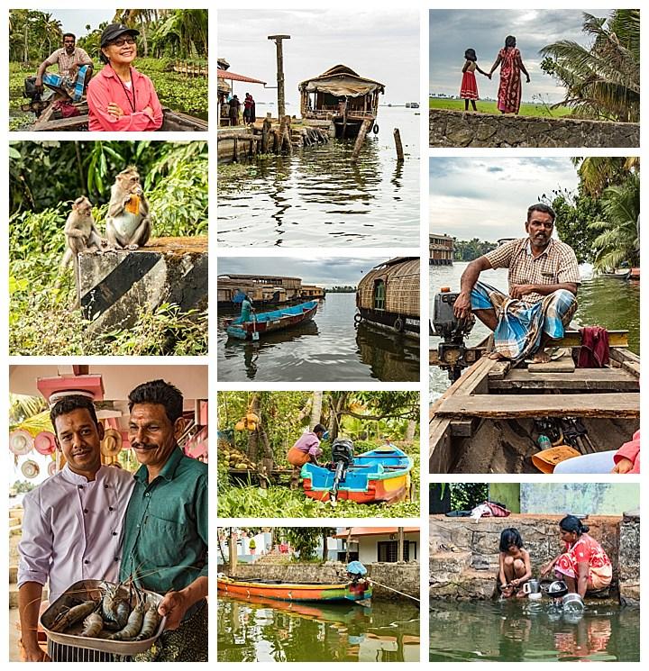 houseboat, India - people