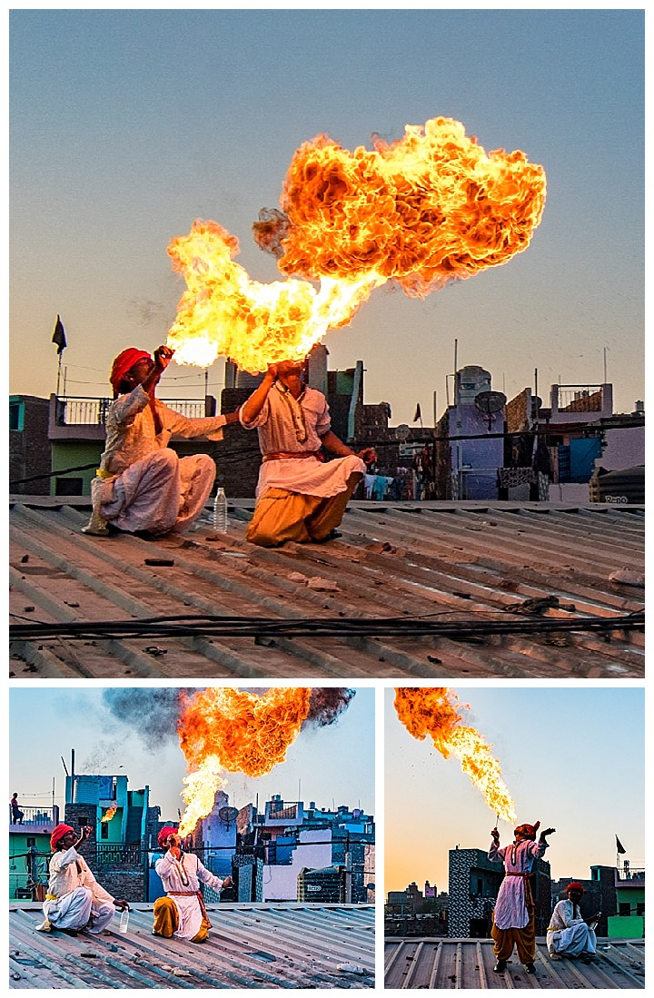 Kapuleti, India - fire breathers