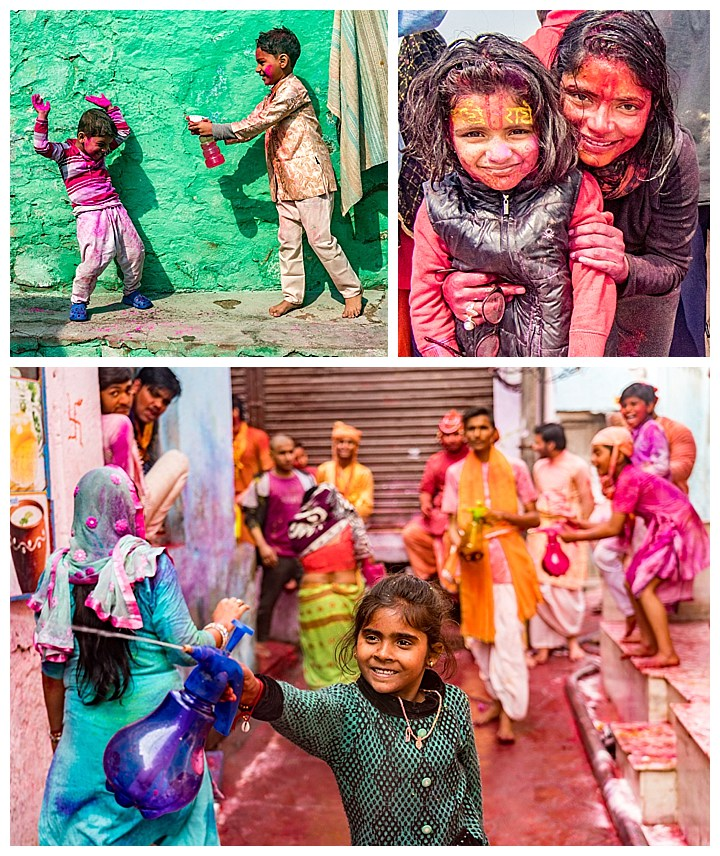 Nandgaon, India Holi - kids