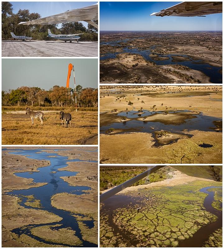 Botswana Okovango Delta - flight